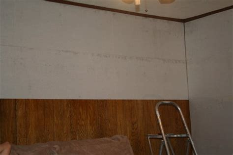Wallpaper Liner Over Paneling  By Thebaldguy