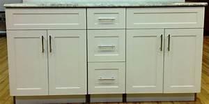 "60"" White shaker vanity (Clearance) DKBC kitchen cabinets"