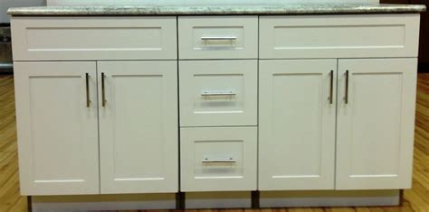 "60"" White shaker vanity (Clearance)   DKBC kitchen cabinets"