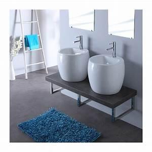 hauteur evier salle de bain 2 meuble de salle bain gris With salle de bain design avec double évier salle de bain
