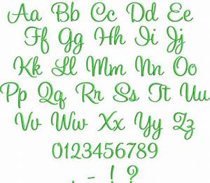 Ellie script embroidery font digistitches machine for Embroidery prices per letter