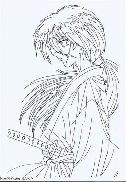 Coloring Kenshin Pages Rurouni Usagisailormoon20 Popular Deviantart