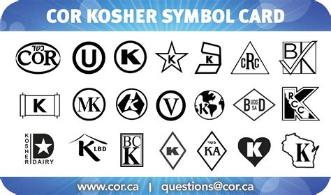 what does kosher new cor kosher symbol card cor