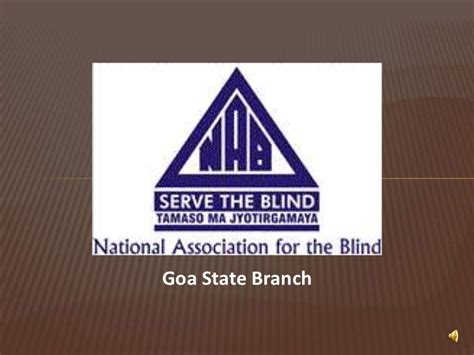 association for the blind national association for the blind goa chapter