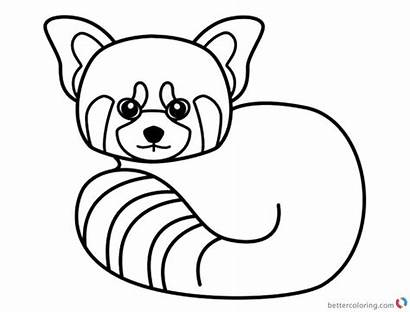 Panda Coloring Pages Line Printable Drawing Adults