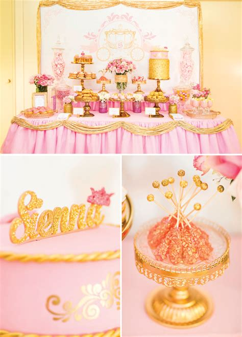 Pink And Gold 1st Birthday Decorations by Royal Princess 1st Birthday Dessert Table Pink