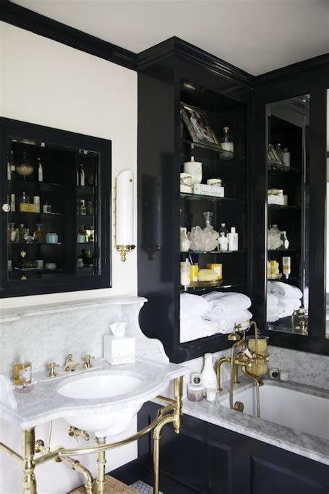 black  gold bathroom eclectic bathroom matchbook