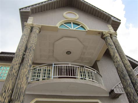 Exterior Elevation Recessed p o p ceiling design in balcony   GharExpert