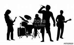 Rock Band Silhouette Vector Free | www.pixshark.com ...