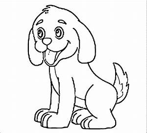 Puppy Outline Coloring Page - Coloring Home