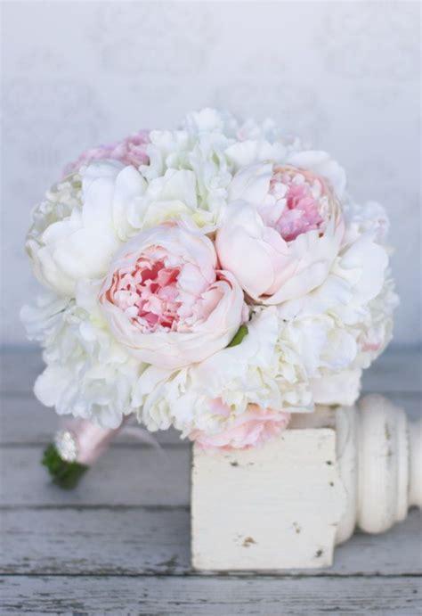 silk bride bouquet peony peonies shabby chic vintage