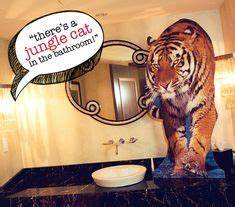 1000 images about the hangover birthday party ideas for The hangover tiger in the bathroom