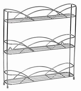 silver wire wall mount spice rack in spice racks With wiring rack cable