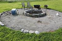 stone fire pit The Completed Stone Fire Pit Project - How We Built It for ...