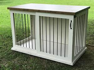 custom dog kennel dog crate furniture sliding door kennel With custom dog crates