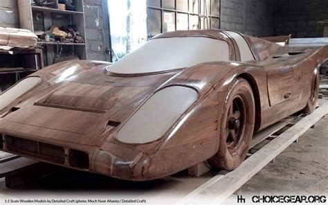 This Indonesian Design Firm Builds Fullsize Wooden Car