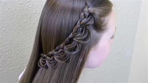 simple beautiful hair style  girls youtube