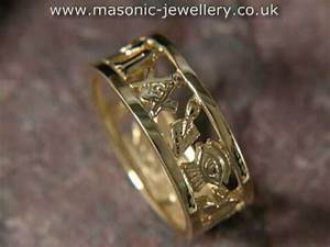 masonic wedding ring gold daj102 youtube With masonic wedding ring