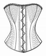 Corset Template Sketch Templates Coloring sketch template