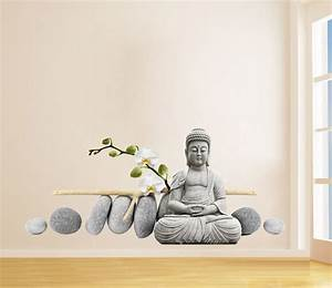 Buddha statue sitting figure decor wall sticker for Buddha wall decal