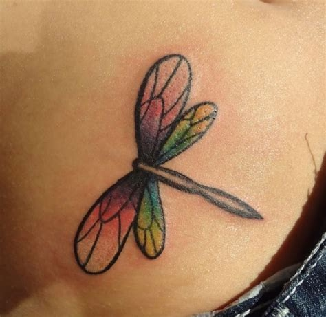 watercolor dragonfly tattoo permanent ink watercolor
