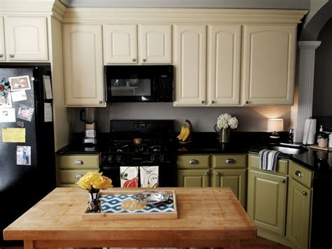 Color Ideas For Kitchen Cabinets by Different Bottom And Top Color Cabinets Seven Pines