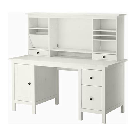 bureau hemnes hemnes bureau met aanbouwdeel witgebeitst 155x137 cm