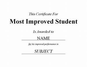Most improved student certificate 2 free templates for Most improved certificate template
