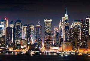 Wallpaper manhattan, new york, usa, night, lights, city ...