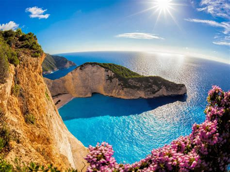 zakynthos island   ocean  greece navajo beach sea