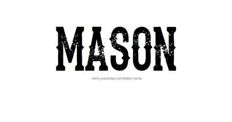 mason  tattoo designs
