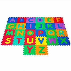 Recaro 96 pc foam floor alphabet number puzzle mat for for Foam letter puzzle