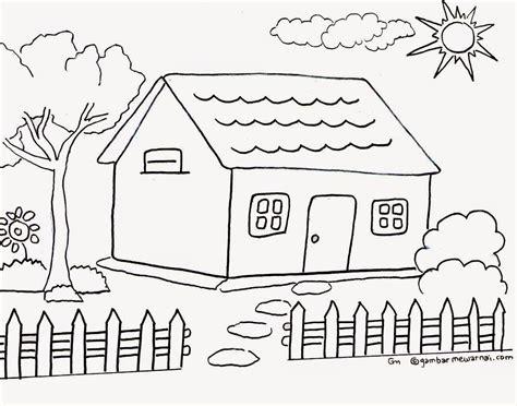 Gambar Rumah Yang Belum Diwarnai