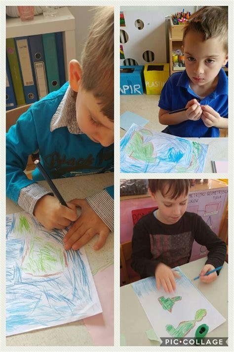 Ribice - likovna aktivnost, tema Kontinenti, crtanje prema predlošku, razvoj vizualne percepcije ...