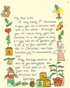letter from santa for first christmas tugs at the heart With original letter from santa