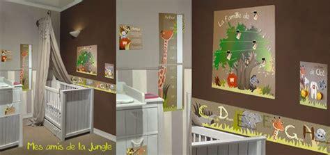 deco chambre jungle décoration chambre enfant mes amis de la jungle par