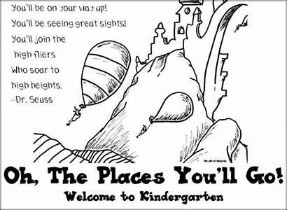 Places Oh Coloring Pages Ll Seuss Dr