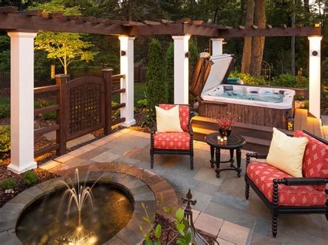 patio water feature ideas hgtv