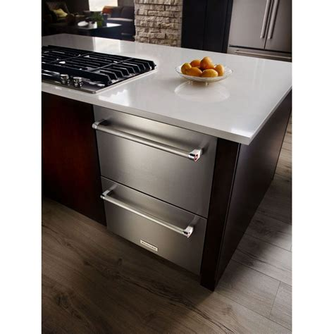 kudresb kitchenaid  double drawer refrigerator stainless  black airport home appliance