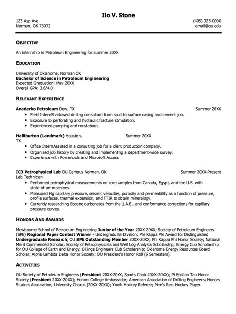 petroleum engineering resume resumes design