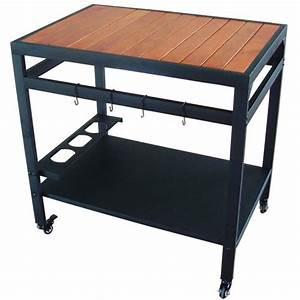 Meuble Pour Plancha : meuble desserte bois et m tal pour plancha oogarden france ~ Melissatoandfro.com Idées de Décoration