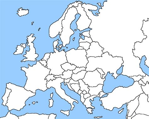 show map of europe