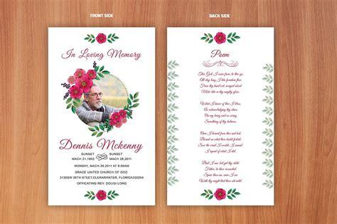 funeral prayer card template card template funeral