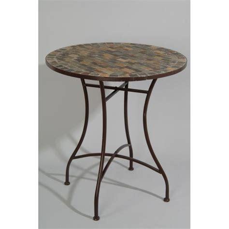 table de cuisine en fer forgé table ronde de jardin en fer forgé avec mosaique achat