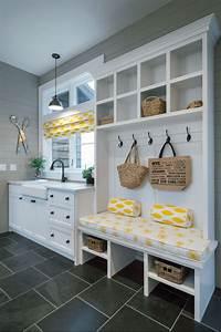 laundry mudroom ideas Small Laundry and Mud Room Inspiration   DIY SWANK