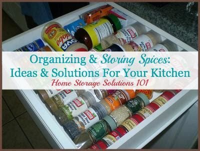 how to organize your kitchen spices organizing storing spices ideas solutions for your 8784
