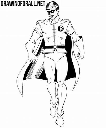 Robin Draw Drawing Lantern Batman Characters Comic