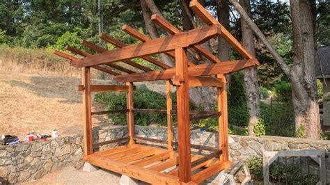 timber frame wood shed start  finish youtube