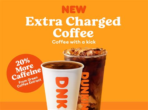 Dunkin' is releasing candy bars inspired by coffee flavors and they're the perfect afternoon snack. Dunkin' is introducing new 'extra charged' coffee with 20% more caffeine that tastes the same as ...