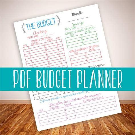 instant printable budget planner organizer